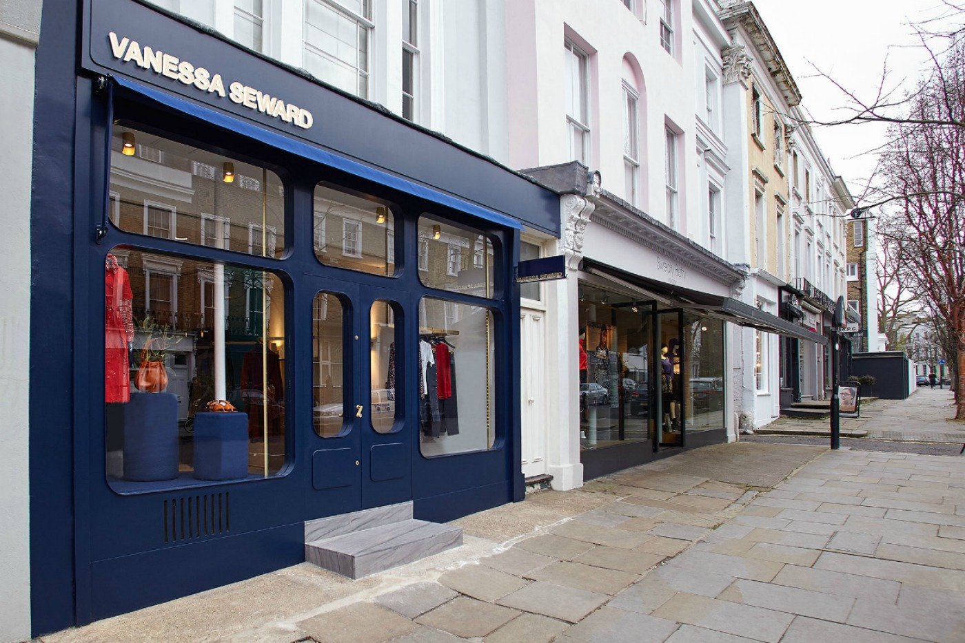 The Vanessa Seward shop on Ledbury Road, Notting Hill