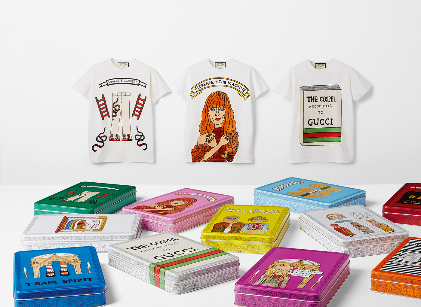 The Angelica Hicks for Gucci t-shirt collection