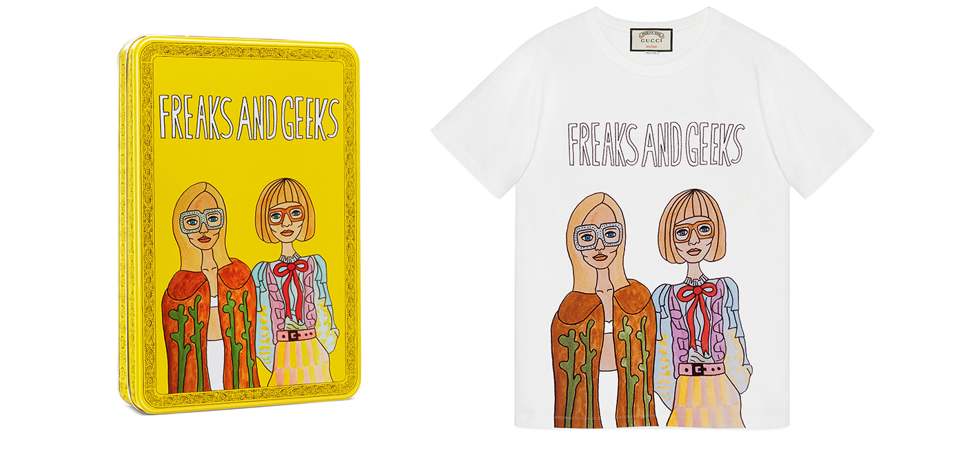 A t-shirt from the Angelica Hicks for Gucci collection