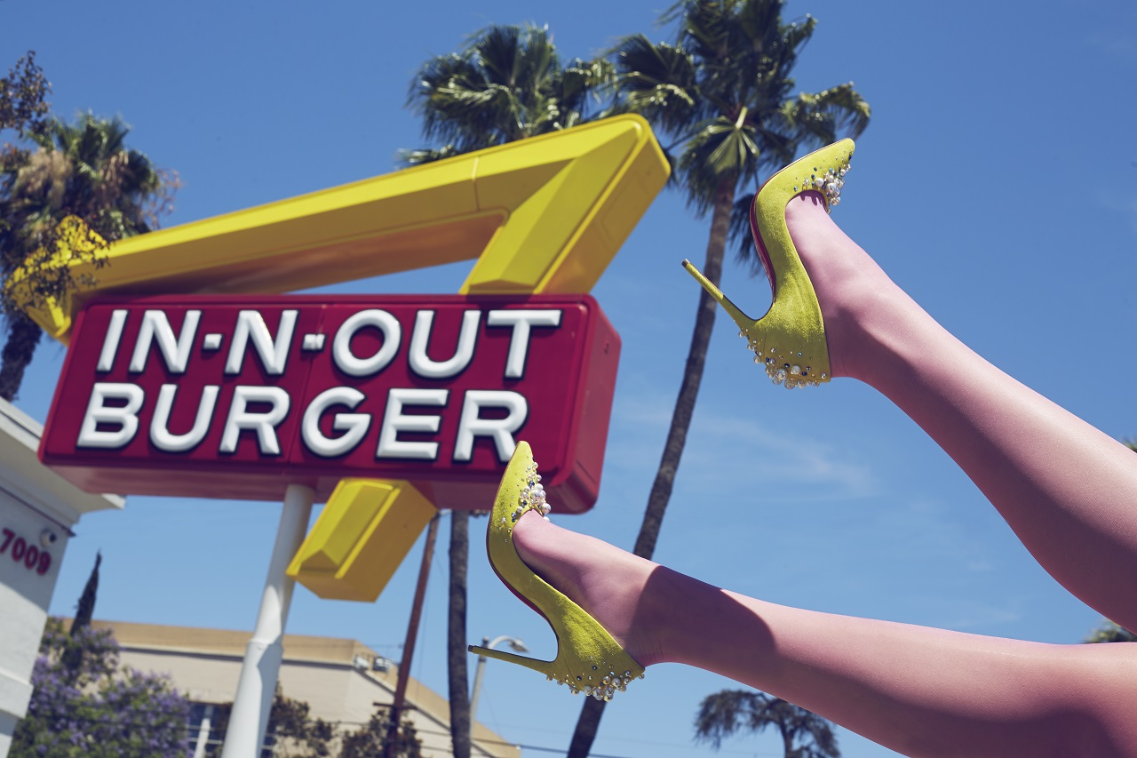 shoe day LA in'n'out